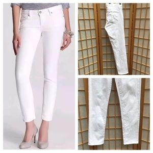PAIGE White Skyline Ankle Jeans